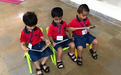 K1- reading in the library