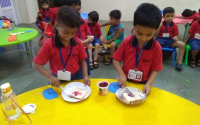 K1 – Life Skills – Learning to independently make a jam sandwich .