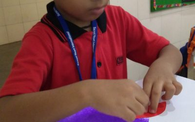 K2 – Blending the concept of Hexagon with the learning of colour purple